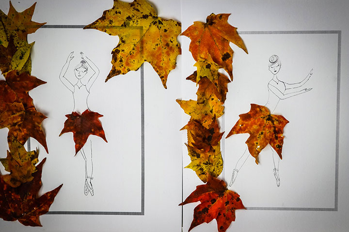Leaf Ballerinas are beautiful fall crafts.