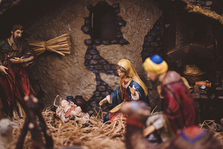Nativity Scene - putting up your nativity is a great advent activity for families.