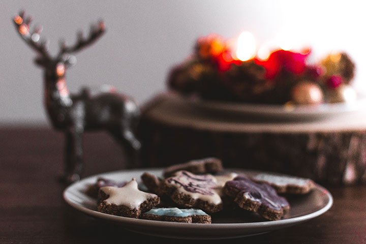Bake cookies for advent. Baking together and sharing cookies with friends and neighbors are all good ways to celebrate advent.