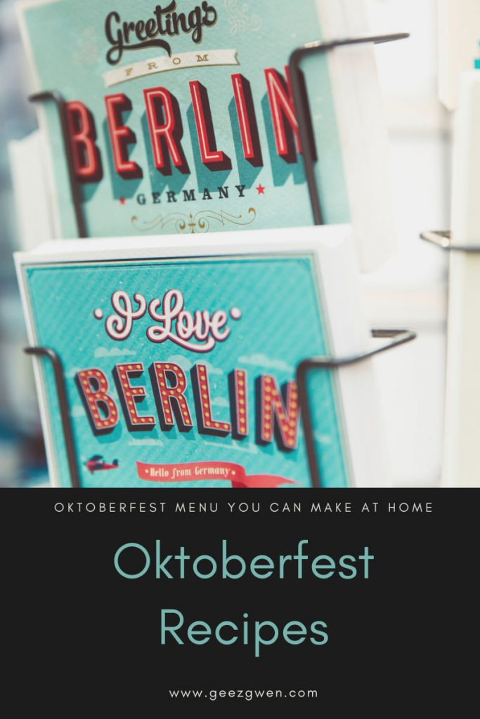 Oktoberfest menu - Oktoberfest Recipes that you can make at home!