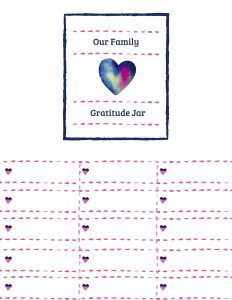 Teaching Your Kids Gratitude Bundle - Gratitude Jar Label