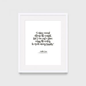 Mother Teresa Inspiring Quote Print