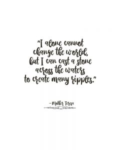 Mother Teresa Quote on Change