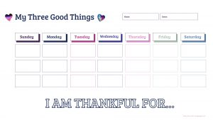 Teaching Your Kids Gratitude Bundle - My Three Good Things Weekly Printout