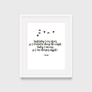 Rumi Quote About Change Print