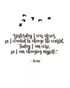 Rumi quote about change
