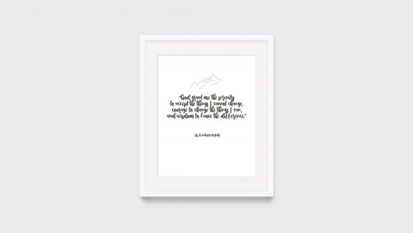 Serenity Prayer Motivational Print