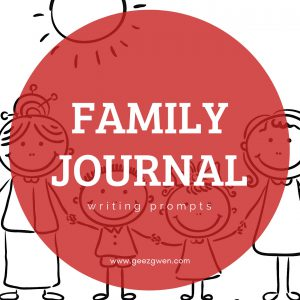 Family Journal Writing Prompts