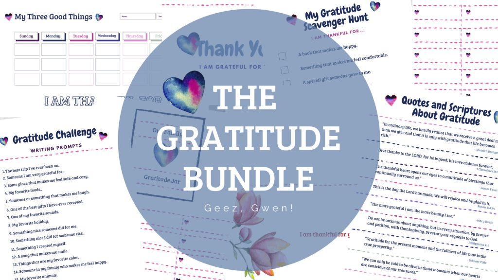 The Gratitude Bundle offers many different ways to teach kids how to be thankful!