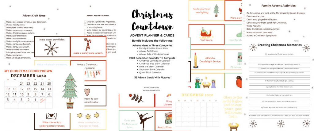 Christmas Countdown Advent Kit for Families