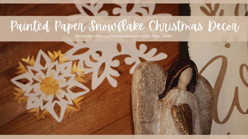 Painted Paper Snowflake Christmas Decor