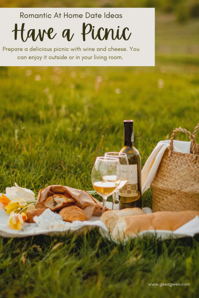 Romantic At Home Date Ideas - Go on a picnic in your backyard or living room.