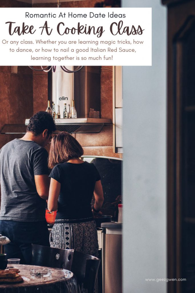 At home date ideas - learn something together. Take any class you want. Cooking classes, dance classes, magic trick classes... You do you!