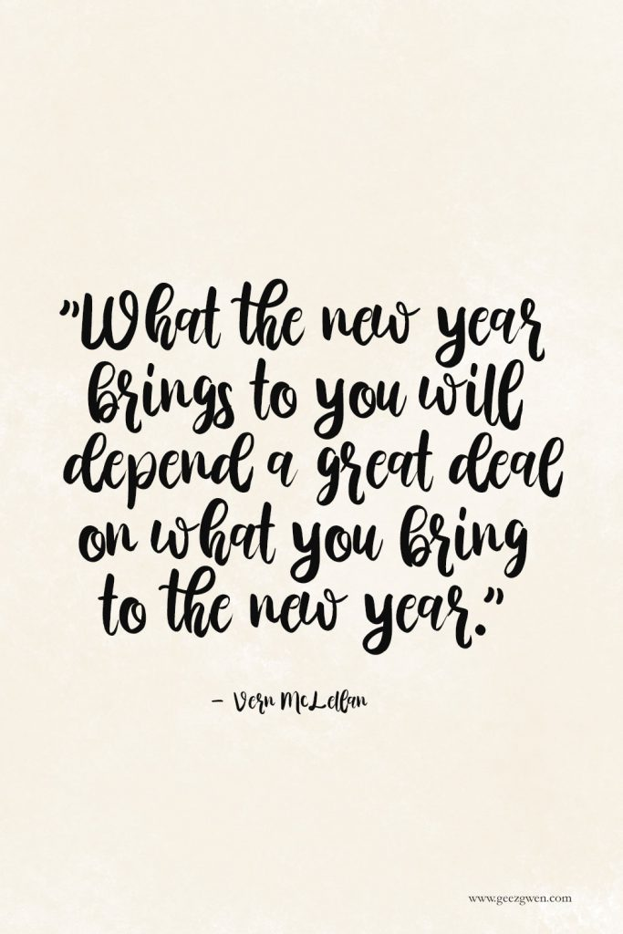 "New Years Quotes - ""What the new year brings to you will depend a great deal on what you bring to the new year.""     - Vern McLellan"