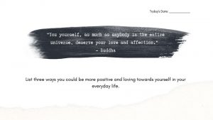 Quote and Writing Prompt for self-esteem