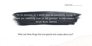 Quote and writing prompt from self esteem journal for teens