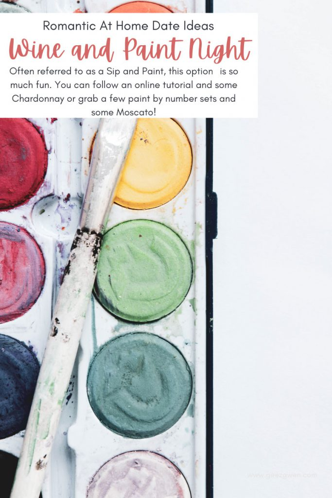 Sip and Paint Nights are fun date night ideas. Whether you grab a paint by number or a canvas, this is a fun date night idea for every couple.