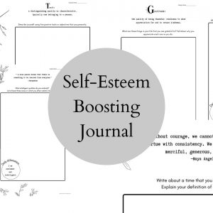 Printable Self Esteem Journal for Teens