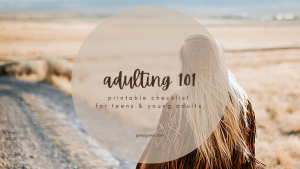 Adulting 101 Life Skills Checklist