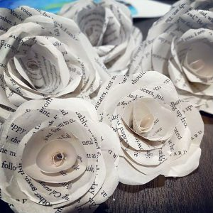 DIY Valentine's Day Craft Book Page Roses
