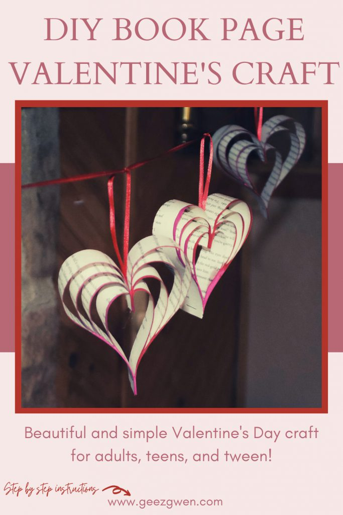 DIY Valentine's Day Craft Ideas - DIY Book Page Hearts for Valentine's or wedding