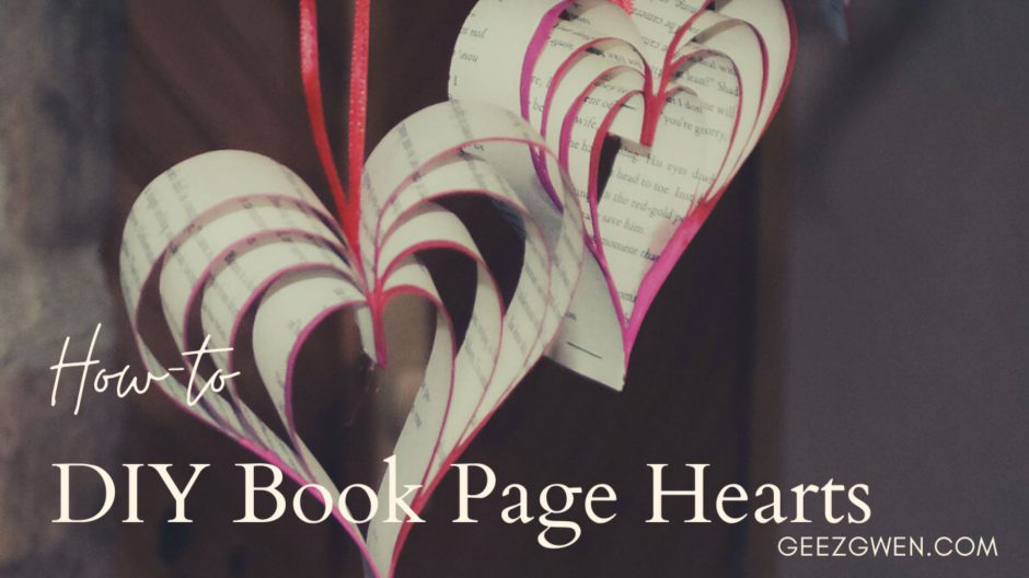 Valentines Day Craft Idea Book Page Heart Garland