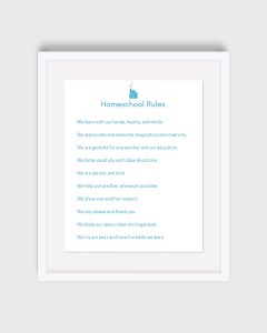Homeschool Rules Print
