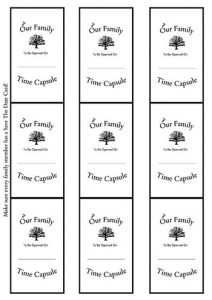 Family Time Capsule Open Date Save The Date Cards