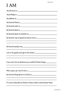 All About Me Time Capsule Worksheet for Kids