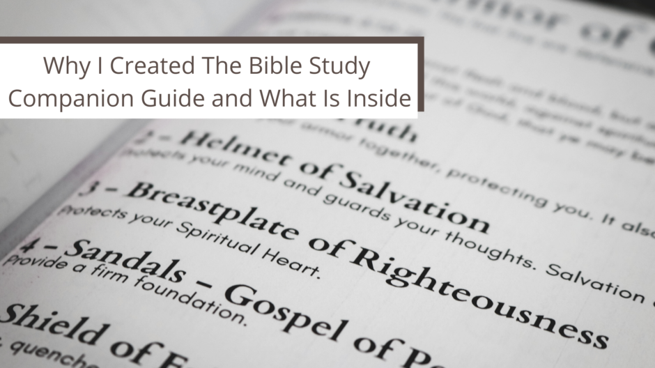 Bible Study Companion Guide Printable