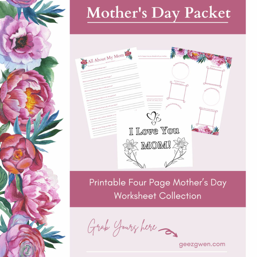 All About Mom Mothers Day Packet