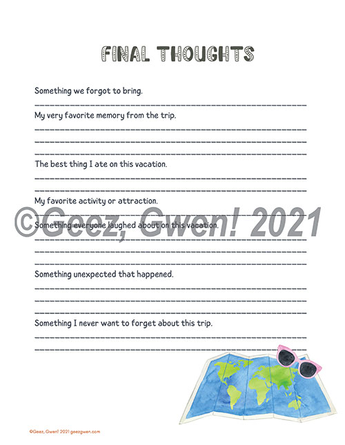 Travel Journal Wrap Up