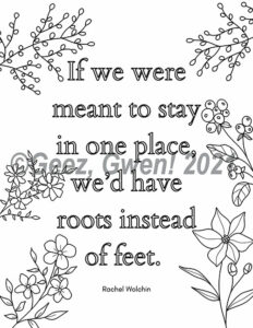 Travel Journal - Quote Coloring Page