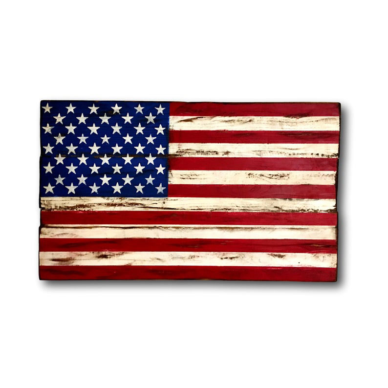 Wooden American Flag Decoration from PalletsAndPaint